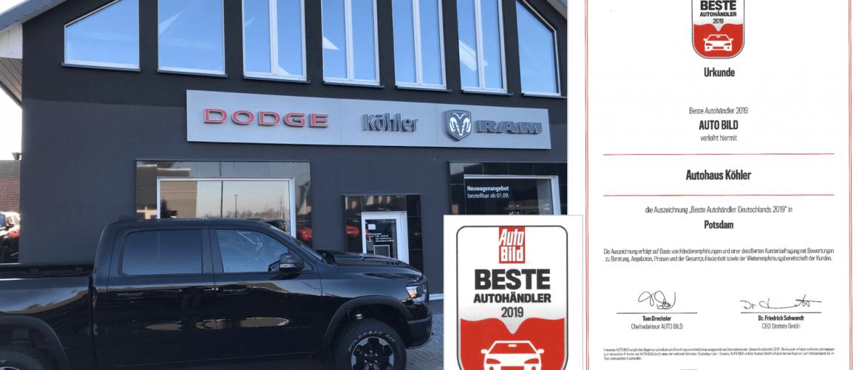 Autohaus Köhler von AUTO BILD ausgezeichnet